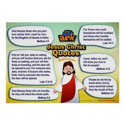 Jesus Christ Quotes Poster
