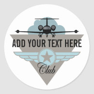 Jet Airplane Wing Club Sticker