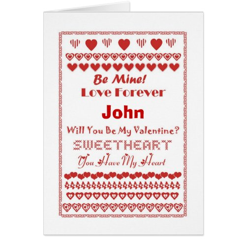 John Happy Valentine's Day Hearts Hearts Hearts