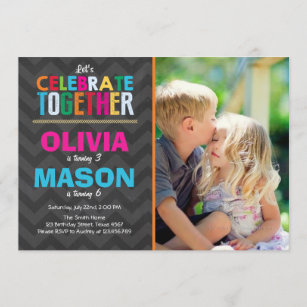 dual invitations zazzle