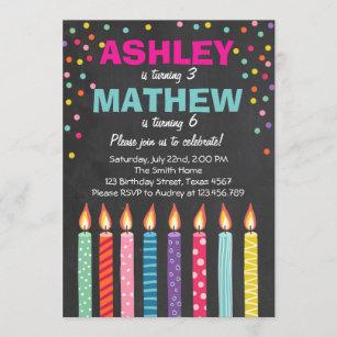 double celebration invitations zazzle