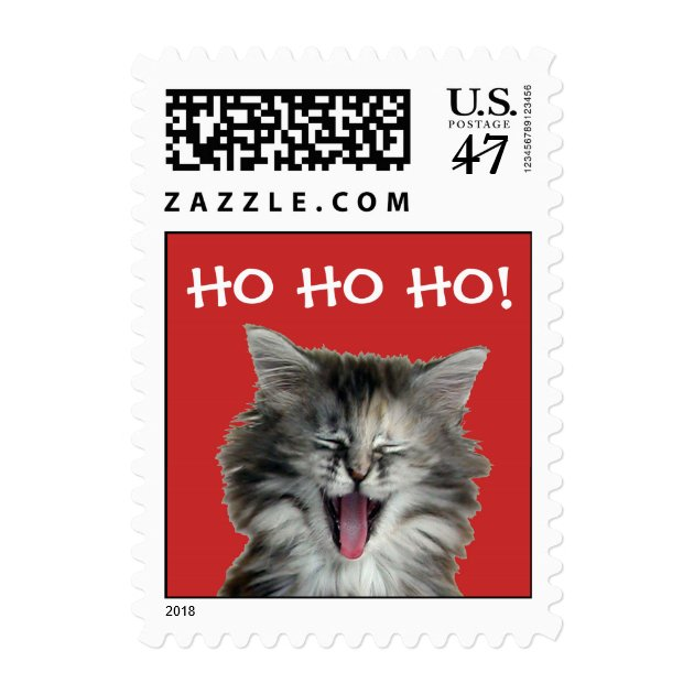 Jolly Christmas Kitten Postage Stamps 254502