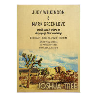 Joshua Tree Wedding Invitation California Park