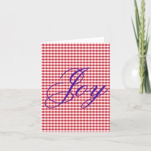 Joy Homemade Christmas Folded Note Cards
