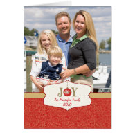 Joy ornament christmas customizable photocard