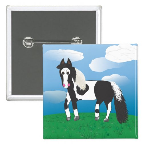 JR. Paint horse Pinback Button