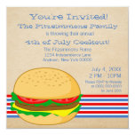 July 4th Striped BBQ Cookout Invite