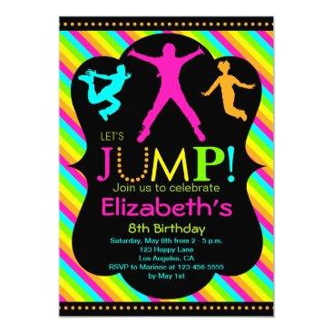 Jump Birthday Invitation - Bounce House Trampoline