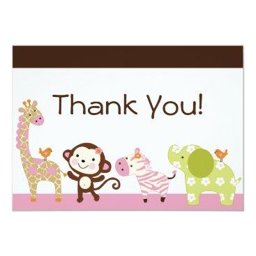 Jungle Jill / Cute Animals Thank You Card
