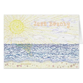 Just Beachy - Card card
