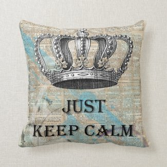 Just Keep Calm Vintage Abstract Art Grunge Design Pillow