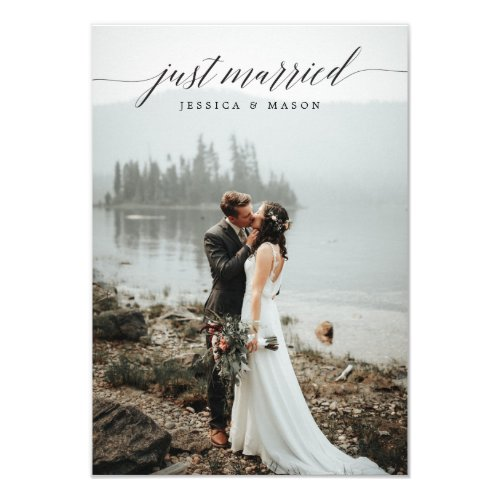 Just Married Invite Eloped Announcement