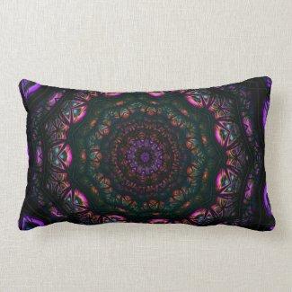 Kaleidoscope 5 (purple) Pillows mojo_throwpillow