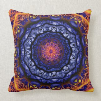 Kaleidoscope 6 (fractal awe) Pillows mojo_throwpillow