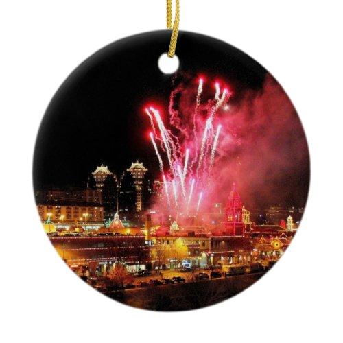 Kansas City Plaza Fireworks, Lights Ornament