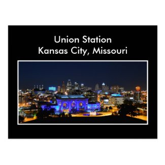 Kansas City Union Station in Blue