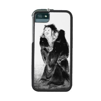 Kanzan and Jittoku classic zen painting iphone Cover For iPhone 5