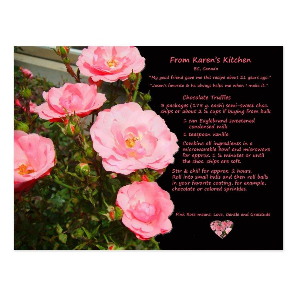Karen's Chocolate Truffles Recipe Postcard