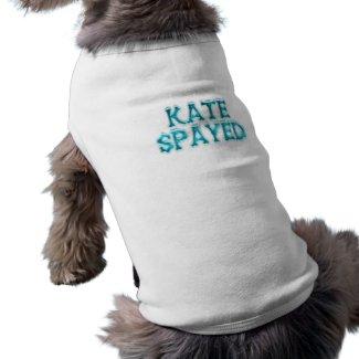 Kate Spayed Doggie Ribbed Tank Top petshirt