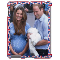 Kate & William Holding Newborn Son