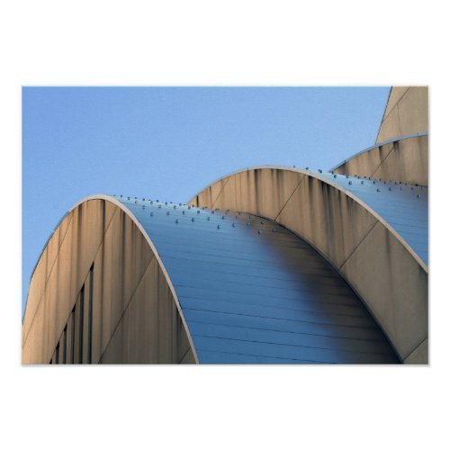 Kauffman Center Blue Curves, Kansas City Poster