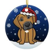 Kawaii Cartoon Rhodesian Ridgeback Christmas ornament