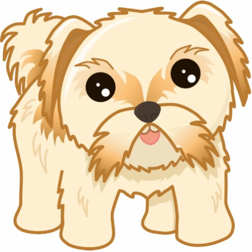 cute puppy cartoon kawaii cute shih tzu puppy