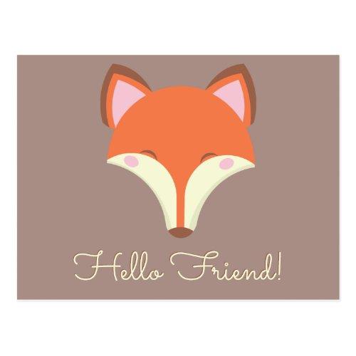 Kawaii Fox Postcard
