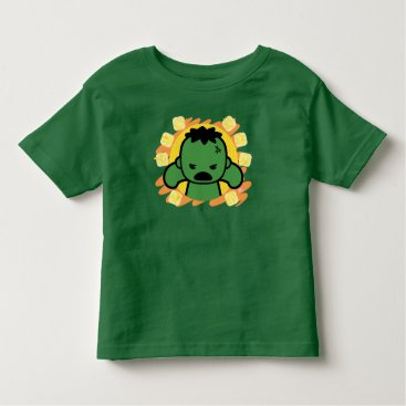 Kawaii Hulk With Marvel Hero Icons Toddler T-shirt