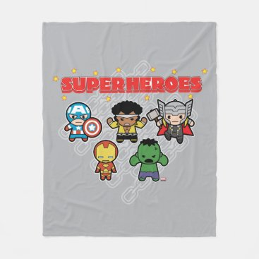 Kawaii Marvel Super Heroes Fleece Blanket
