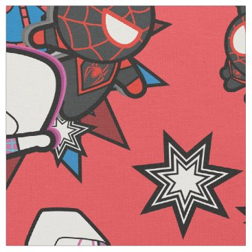 Kawaii Spider-Man, Ghost-Spider, & Miles Morales Fabric