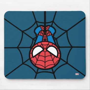Kawaii Spider-Man Hanging Upside Down Mouse Pad