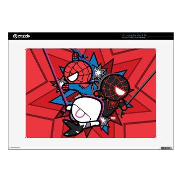 Kawaii Spider-Man, Spider-Gwen, & Miles Morales Skin For Laptop