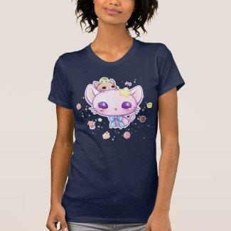 Kawaii star kitty with cute cakes t-shirt