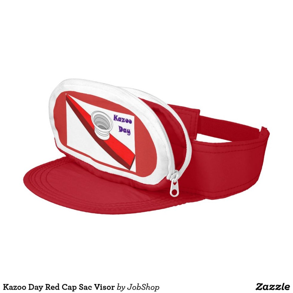 Kazoo Day Red Cap Sac Visor