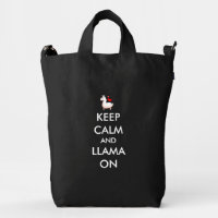 Keep Calm and Llama On Duck Bag