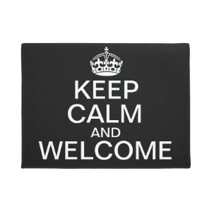 Keep Calm and Welcome Doormat