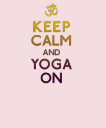 keep calm and yoga on t shirt