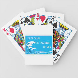 Keep Calm In The Seas Of Life Card Deck