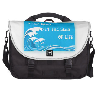 Keep Calm In The Seas Of Life Commuter Bag