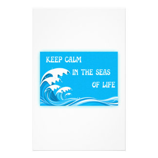 Keep Calm In The Seas Of Life Personalized Stationery