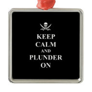 Keep calm & plunder on ornament