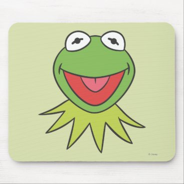 Kermit the Frog Cartoon Head Mouse Pad