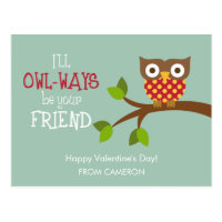 Kid Valentine's Day Card - Owl-ways Friends