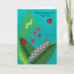 ❤️ Kids at Summer Camp Funny Bugs Thinking of You Card