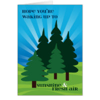 Kids at Summer Camp Sunshine and Fresh Air Trees Card