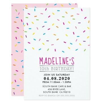 KIDS BIRTHDAY PARTY INVITE  colorful sprinkles