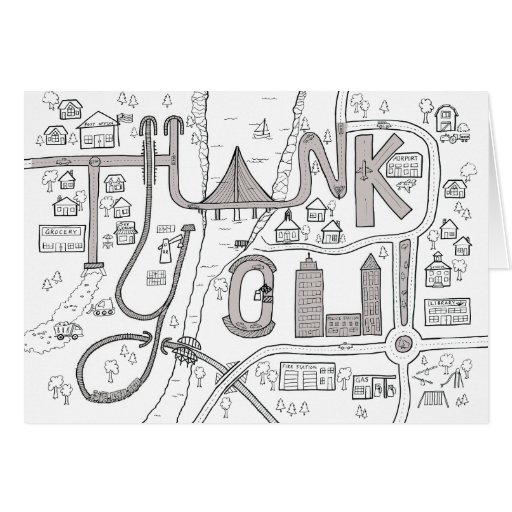 kids coloring thank you card zazzle