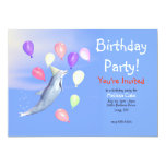Kids Happy Birthday Party Dolphin Invitation