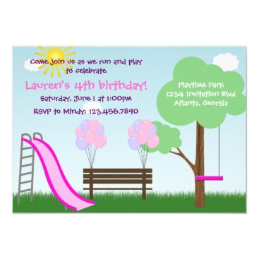 Kids Park Birthday Party Invitation